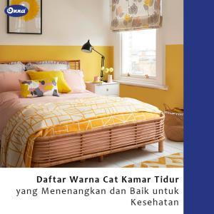 Daftar Warna Cat Kamar Tidur yang Menenangkan dan Baik untuk Kesehatan