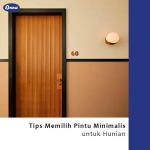 Tips Memilih Pintu Minimalis Untuk Hunian